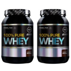 whey - Leve 2 100% Pure Whey Chocolate 900 g - Probiotica - R$ 159,90