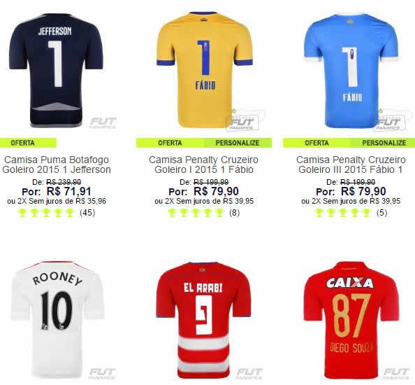71c70afae0 Camisas de Futebol a partir de R  71