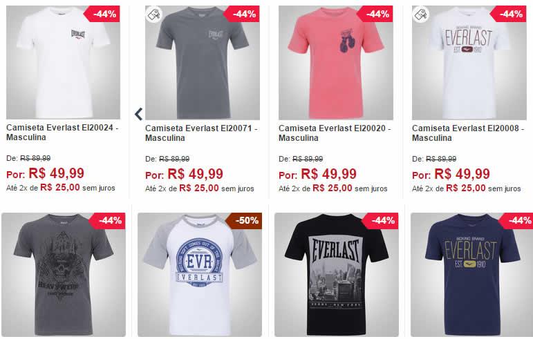everlast - Camisetas Everlast - Masculina - R$ 49,99 Cada
