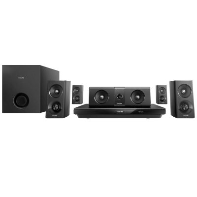 home theater - Home Theater Philips HTB3520X/78 5.1 Canais com Blu-ray Player 3D, Smart TV - R$ 759,05