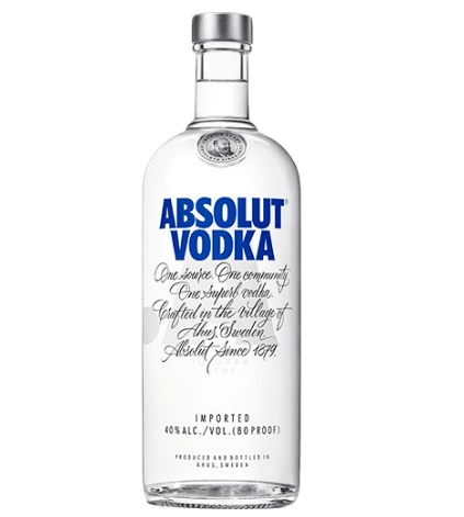 absolut - Vodka Absolut Original 1 Litro - R$ 58,45