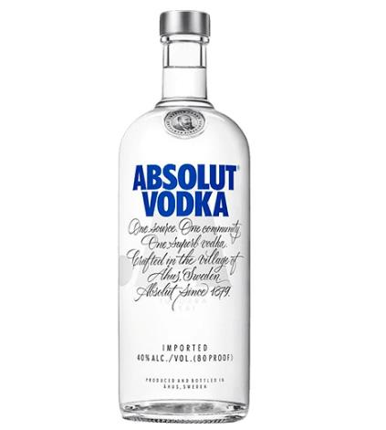 absolut - Vodka Absolut Original 1 Litro - R$ 58,45