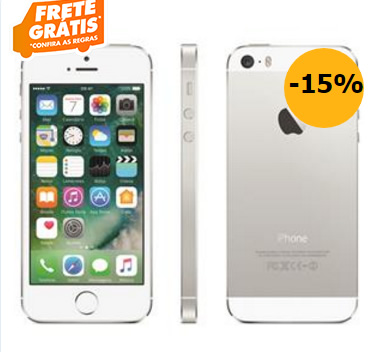 "iphone5s - iPhone 5S Apple com 16GB, Tela 4"", iOS 8 - R$ 1.495, 12"