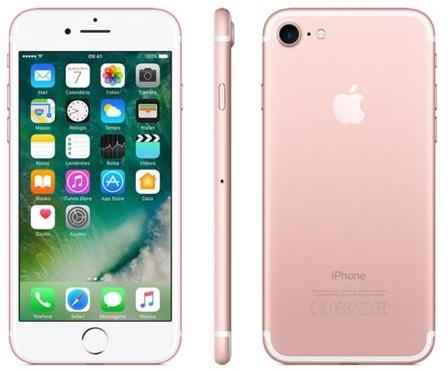 iphone rosa - iPhone 7 Ouro Rosa com Tela de 4,7, 4G, 32 GB - R$ 3.079,73