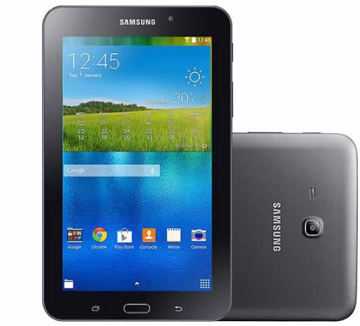 """tablet 1 - Tablet Samsung Galaxy Tab T113 8GB Wi-Fi Tela 7"""" 1.3GHz - Preto - R$ 465,49"""