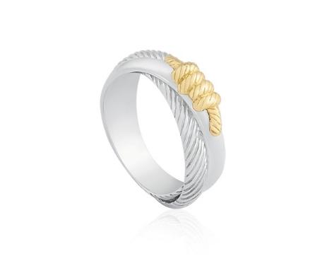 anel de prata - Vivara - Anel Prata e Ouro Amarelo Marine - R$ 250,00