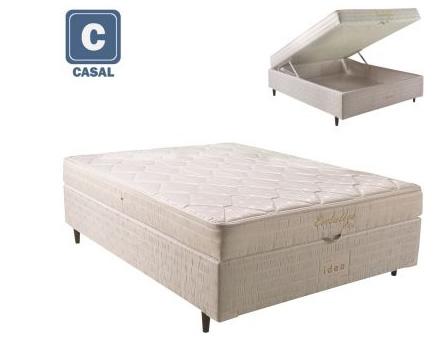 box - Box Conjugado Casal com Baú Herval Evolution Mola Bonnel - R$ 799,90