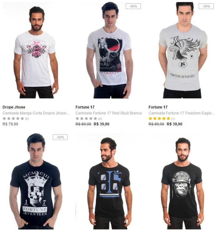 camisetas - Dafiti - 5 Camisetas por R  109 183fd99ae23fd