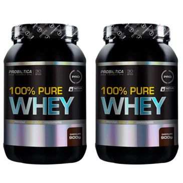 whey - Leve 2 100% Pure Whey Chocolate 900 g - Probiotica - R$169,90