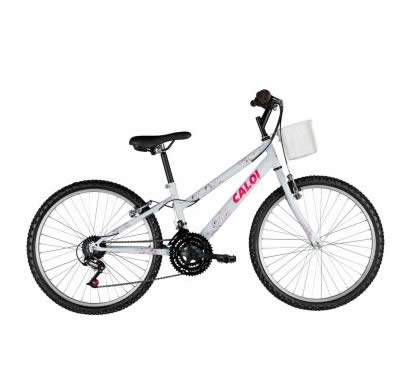 bicicleta ceci caloi - Bicicleta Ceci 21 marchas Aro 24 Branca - Caloi - R$ 399,90