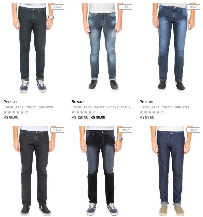 calca jeans - 3 Calças Jeans por R$ 199,00
