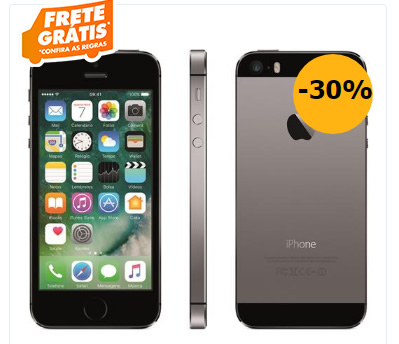 iphone 5s - iPhone 5S Apple com 16GB - R$ 1.259,10
