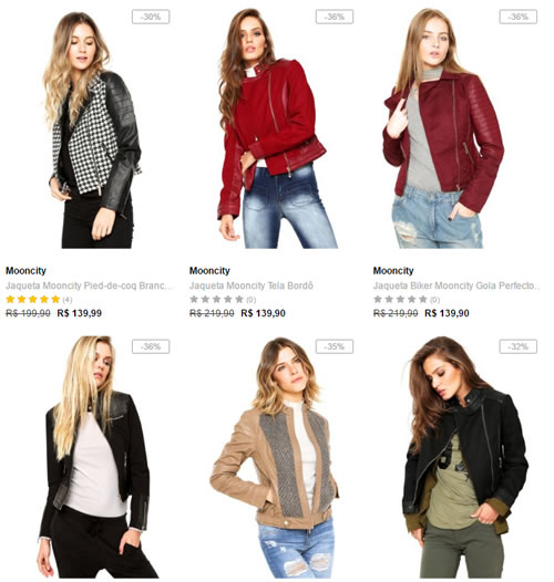 jaquetas femininas - Dafiti - 2 Jaquetas Femininas por R$ 199,00