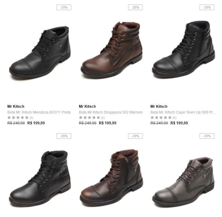 botas masculinas - Dafiti - 2 Botas Masculinas - R$ 199