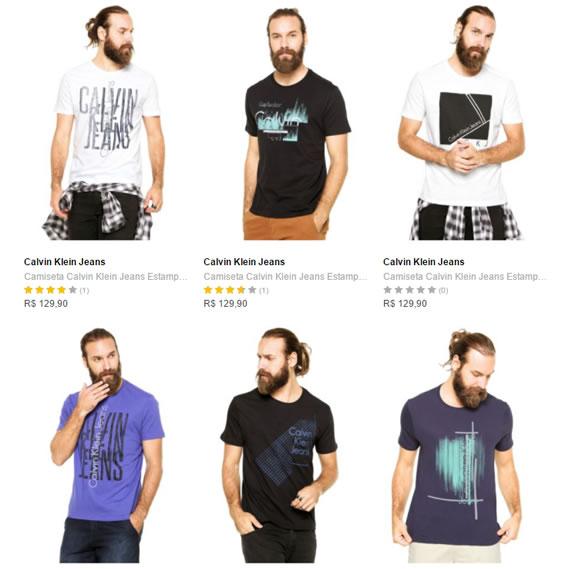 6db5d6e975 Dafiti - 2 Camisetas Calvin Klein - R  139 - Pirata dos Descontos