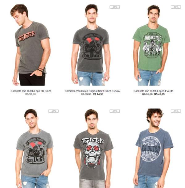 06a6e97925d6b camiseta vondutch - Kanui - 3 Camisetas Von Dutch - R 129