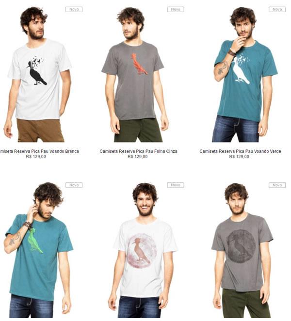 camiseta reserva - Kanui - 2 Camisetas Reserva - R$ 139