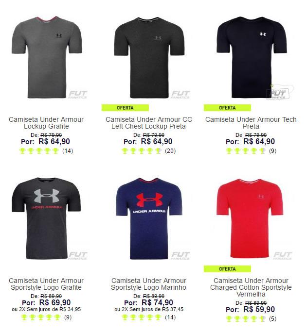 camiseta underarmour - Saldão de Camiseta Under Armour - A partir de R  59 162264178b5ba
