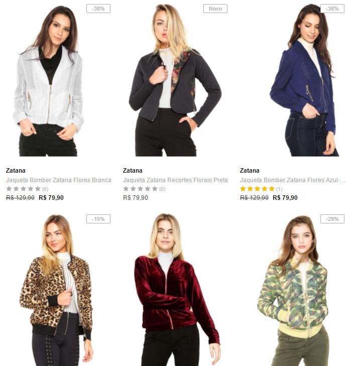 jaquetas 1 - Dafiti - 4 Jaquetas Femininas - R$ 199