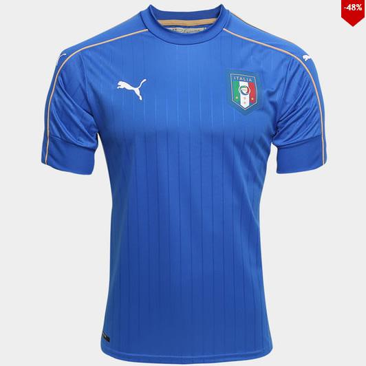 puma italia - Camisa Puma Seleção Itália Home - R$ 119,90