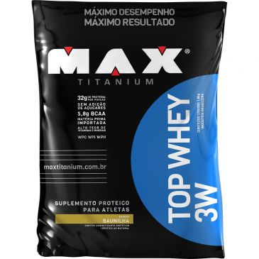 whey 3w - Top Whey 3W - 1,8 KG - Max Titanium - R$ 199,90