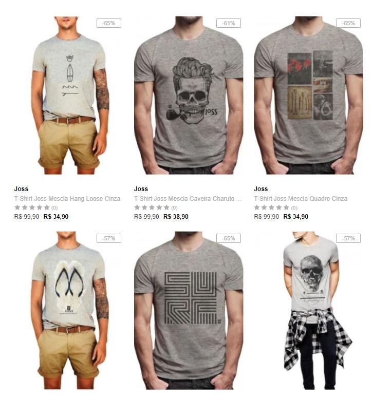Dafiti - 5 Camisetas por R  109 - Pirata dos Descontos 11f1335cb4a3c
