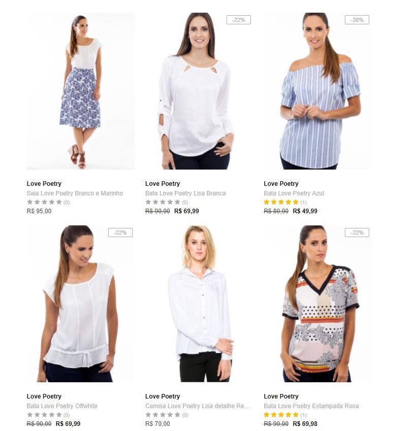 camisas - Dafiti - 2 Camisas Femininas - R$ 129