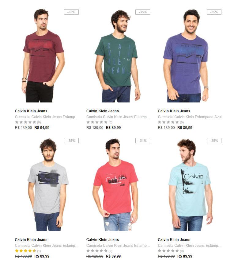44af23b47f Dafiti - 2 Camisetas Calvin Klein por R  139 - Pirata dos Descontos