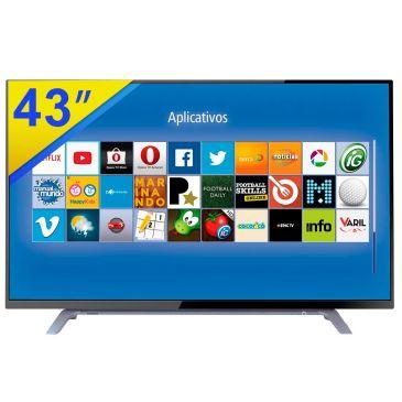 """tv led - Smart TV LED 43"""" Toshiba FULL HD - R$ 1.799,90"""