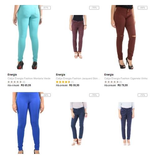 calcas - Dafiti - 3 calças femininas por R$ 149