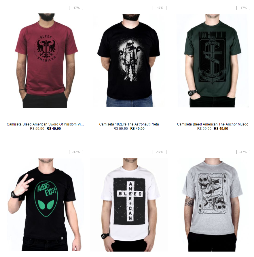 8a72164f05 Black Week - Kanui - 5 Camisetas por R 99 - Pirata dos Descontos