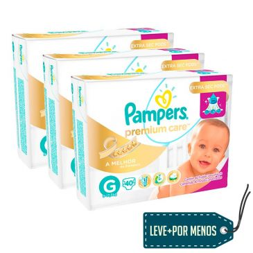 pampers - 120 Fraldas Pampers - R$ 119,70