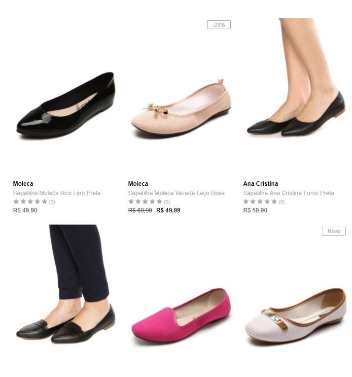 sapatilhas - Dafiti - 3 Sapatilhas por R$ 99