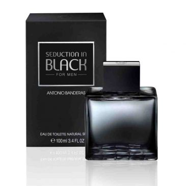 antonio bandeiras black - Perfume Antonio Banderas Seduction In Black Edt 100ml - R$ 59,90