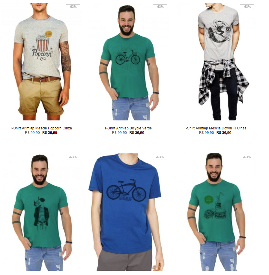 e491de600a Arquivo para 5 camisetas - Pirata dos Descontos