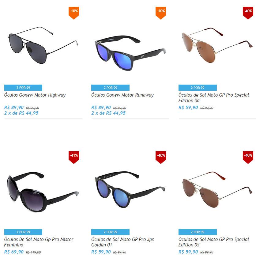 20f58cc53c811 Netshoes - Escolha 2 Óculos por R  99 - Pirata dos Descontos