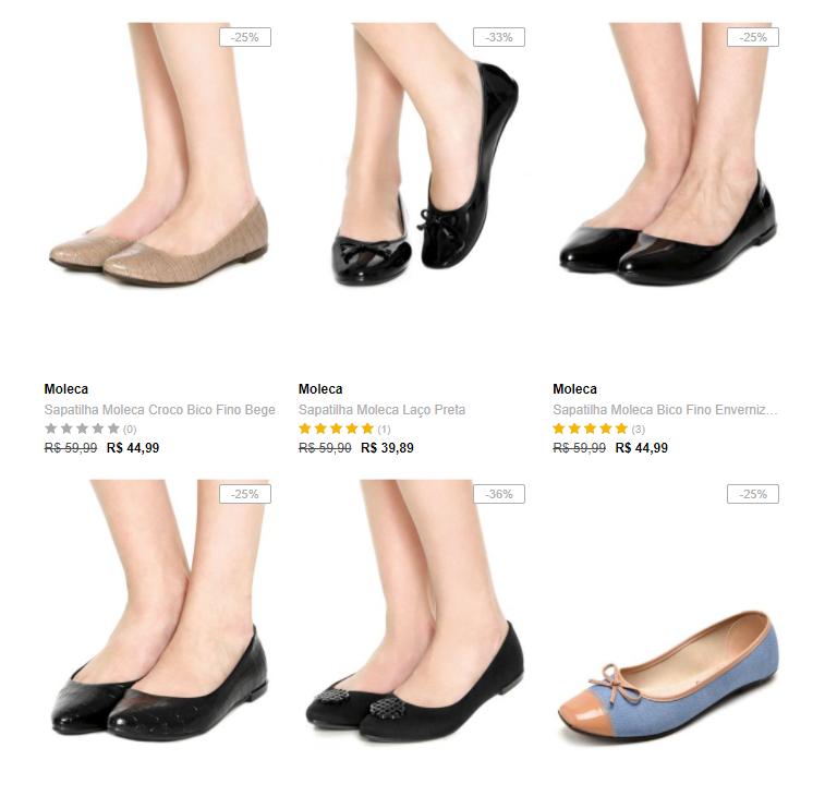 sapatilhas - Escolha 3 Sapatilhas Moleca na Dafiti por R$99*