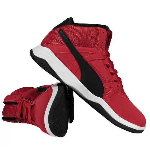 tenis puma masculino vermelho - Tênis Puma Rebound Street Evo - R$ 159,90