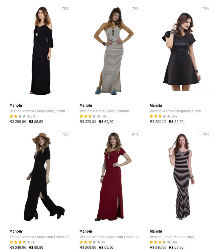 vestidos - Escolha 3 Vestidos na Dafiti por R$99