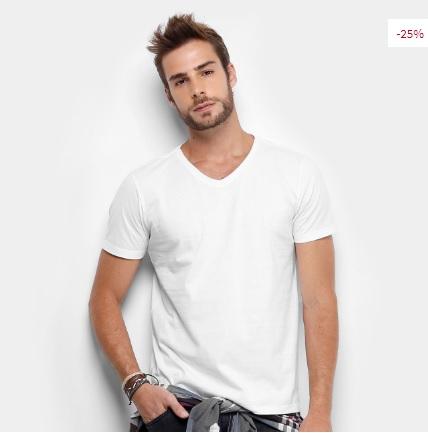 camiseta - Camiseta Drezzup Gola V - R$29,90