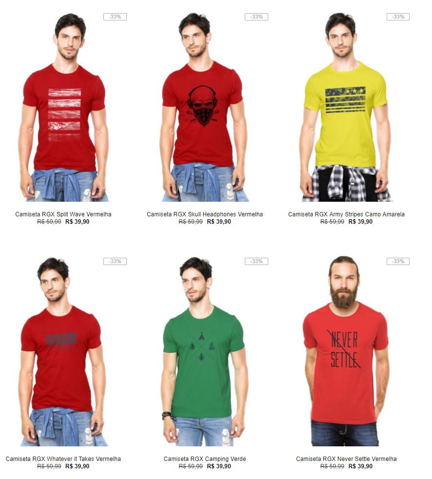 8a9f82f4c8 Kanui - 4 Camisetas por R 89 - Pirata dos Descontos