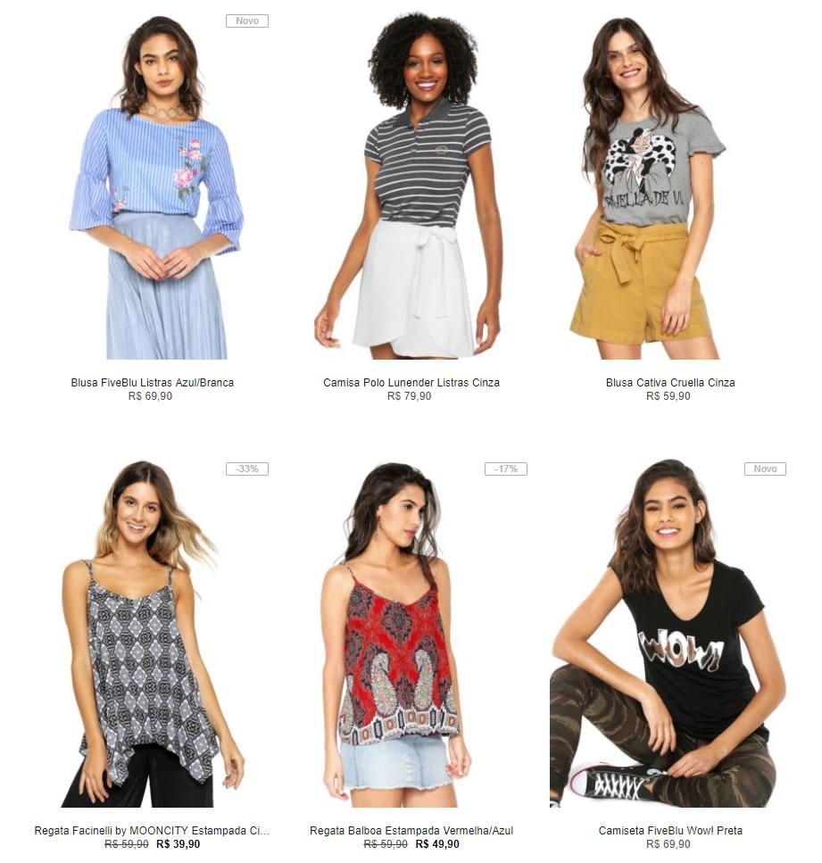 blusinhas - Escolha 3 Blusinhas na Kanui por R$99