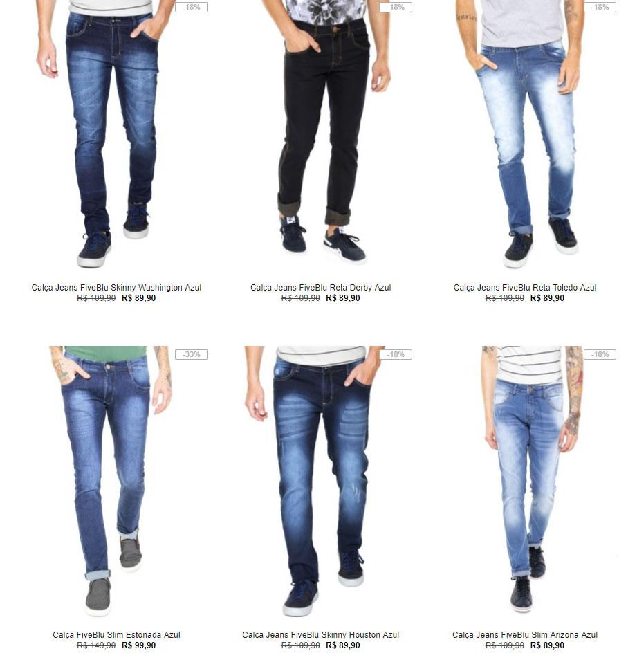 calcas 1 - Kanui - 3 Calças Masculinas por R$199