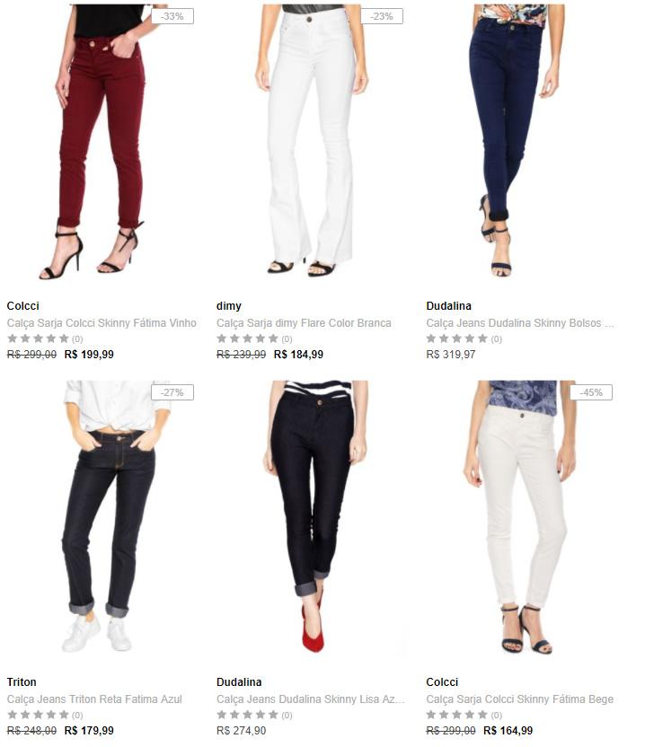 calcas - Dafiti - 2 Calças Femininas Top Marcas - R$299