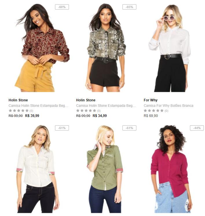 camisas - Escolha 3 Camisas na Dafiti por R$99