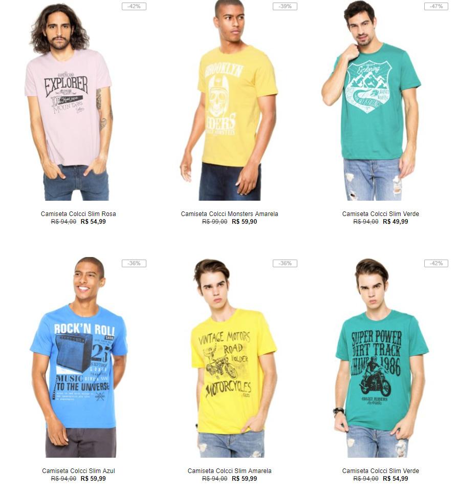 e7238e56e3 Kanui - 3 Camisetas Colcci por R 129 - Pirata dos Descontos