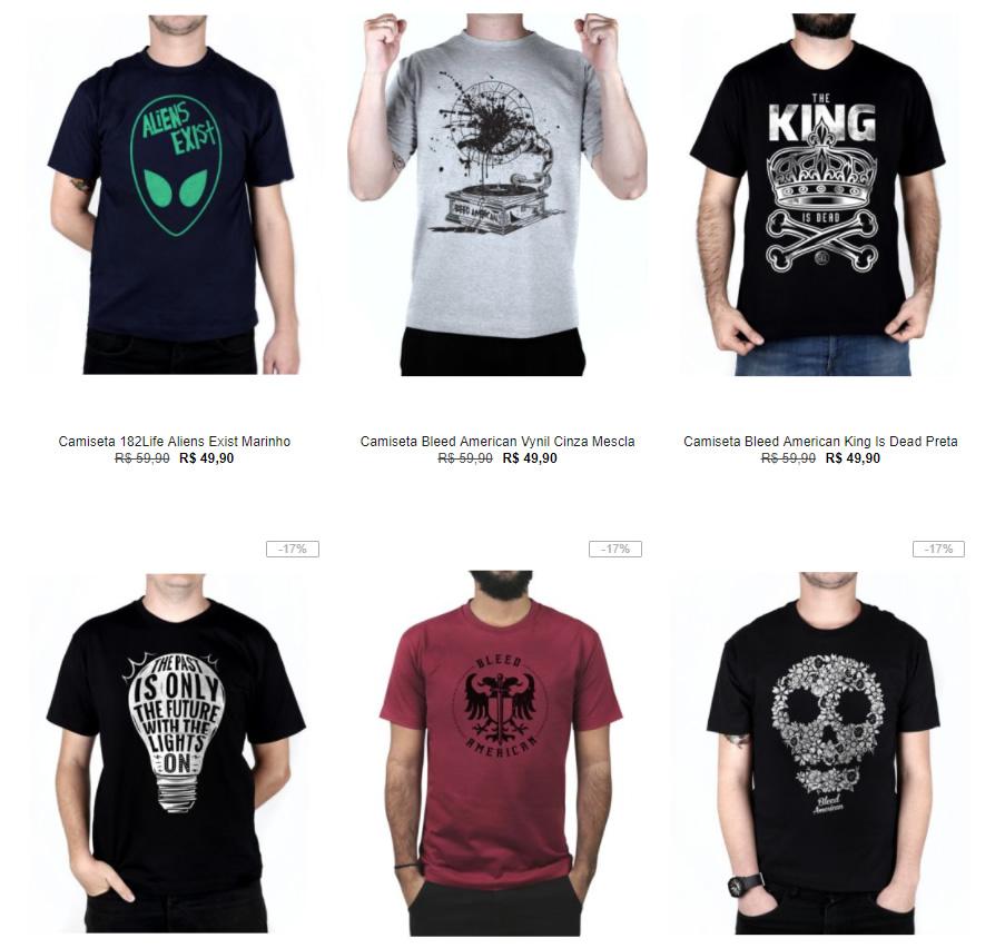 ac815b217e Kanui - Verão - 5 Camisetas por R 99 - Pirata dos Descontos