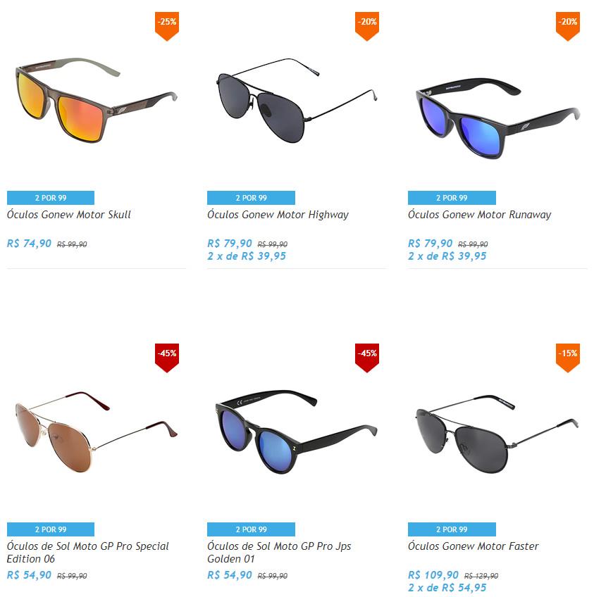 oculos 1 - Netshoes - 2 Óculos de Sol por R$99