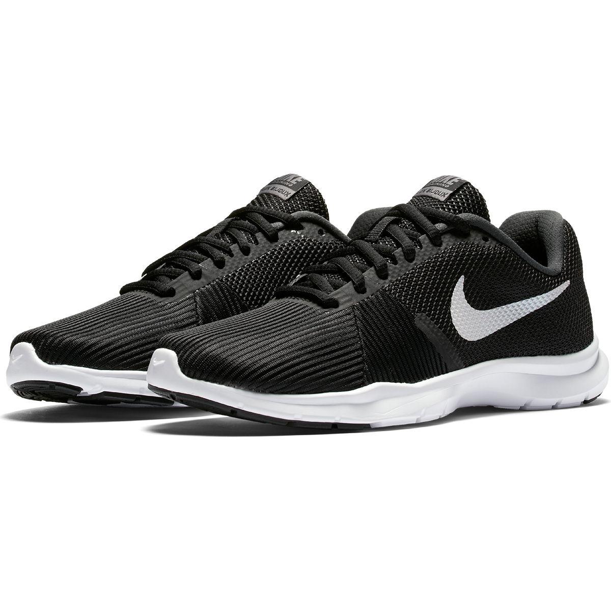 tenis nike 1 - Tênis Nike Flex Bijoux Feminino - Preto e Branco  - R$159,90