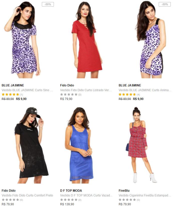 vestidos 2 - Dafiti - Vestidos, Leve 3 Pague 1 - Escolha os seus